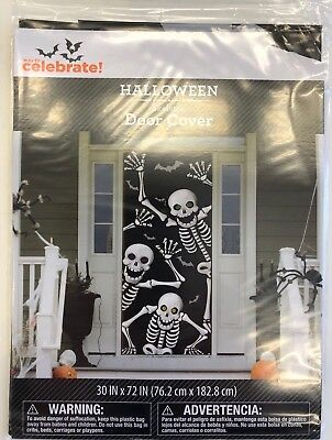 Halloween door cover skeleton 30