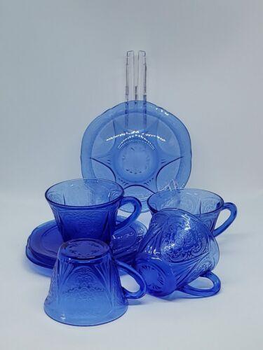 Royal Lace by Hazel Atlas / Ritz Blue Cobalt Depression Glass