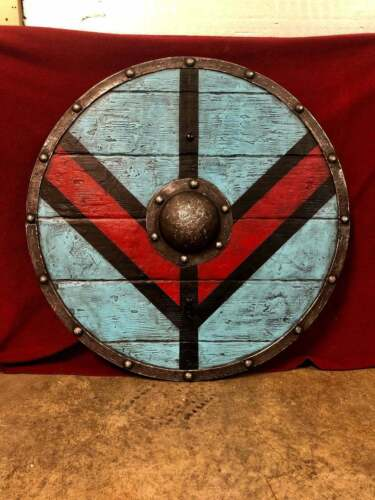 ORNATE INDO PERSIAN WARRIOR SHIELDMedieval Lagertha Battleworn Viking Shield IV