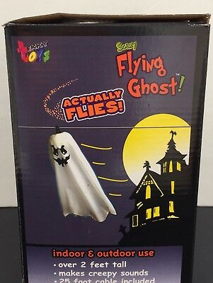 Tekky Scary Flying Ghost Prop Sound Activated Flies On 25 FT Cable 2 FT-C VIDEO](Flying Ghost Halloween Prop)