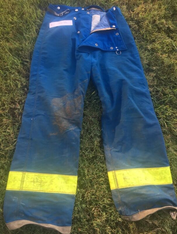 #12 Firefighter Bunker Turnout Pants 42R HALLOWEEN pre-owned Blue