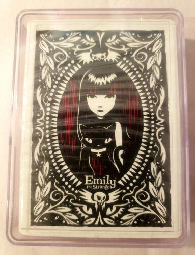 Emily the Strange ESP 2006 NEW SEALED Playing Cards Plastic Case 54 Cards NOS!