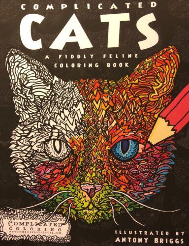 Ausmalbuch Katzen Complicated Coloring