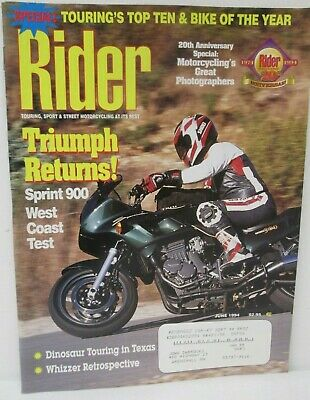 Rider Magazine June 1994 Touring Street Motorcycling At Its Best