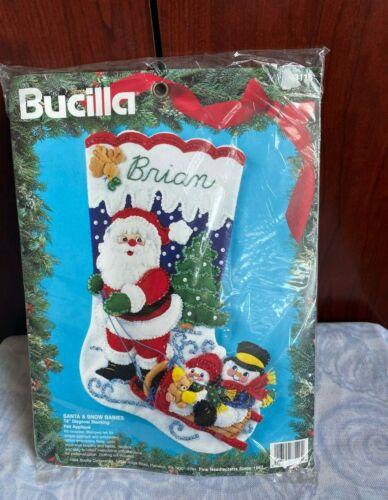 new 1994 bucilla christmas santa and snow babies number 83116