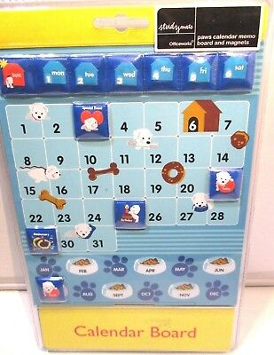 Study Mates Paws Calendar Memo Board and Magnets. Brand New.