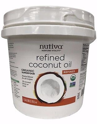 Nutiva Purified Organic Coconut Oil with No Flavor or Scent 1 Gallon
