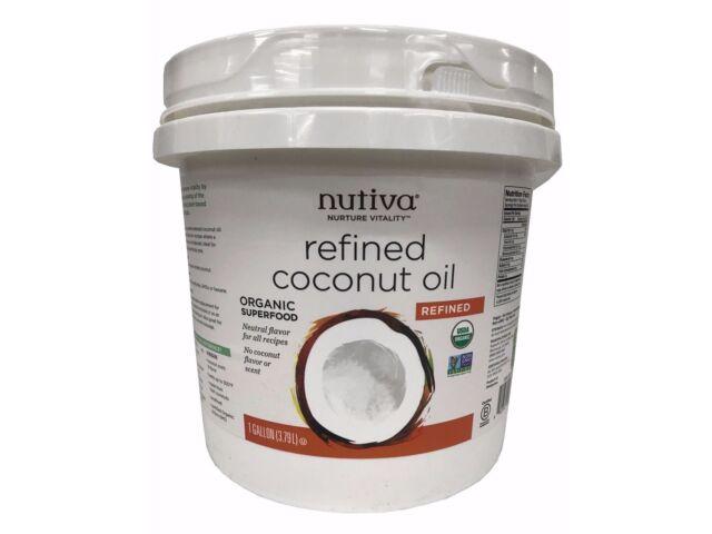 Nutiva Refined Organic Coconut Oil with No Flavor or Scent 1 Gallon