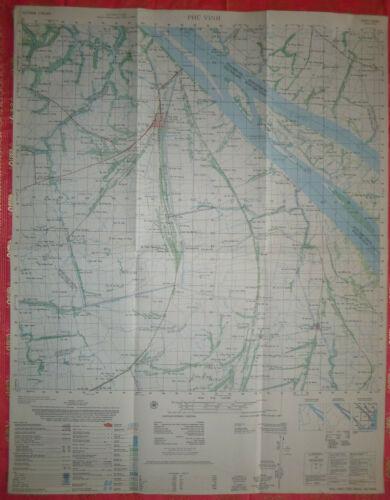 6228 i - MACV-SOG MAP - TRA VINH - September 1967 - Vietnam War - Co Chien River