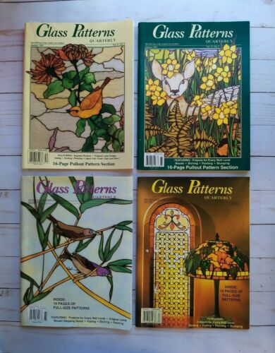 Stained Glass Patterns Quarterly Magazines Summer Spring Fall 1995 1996 1997 Lot