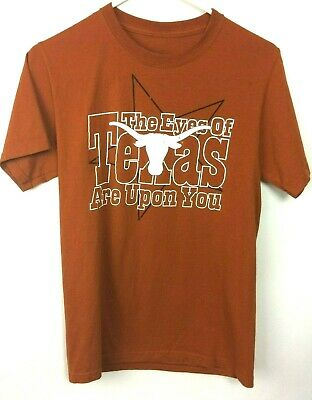 Knights Apparel Burnt Orange UT Longhorn Short Sleeve Cotton T-Shirt - Size S Ut Burnt Orange