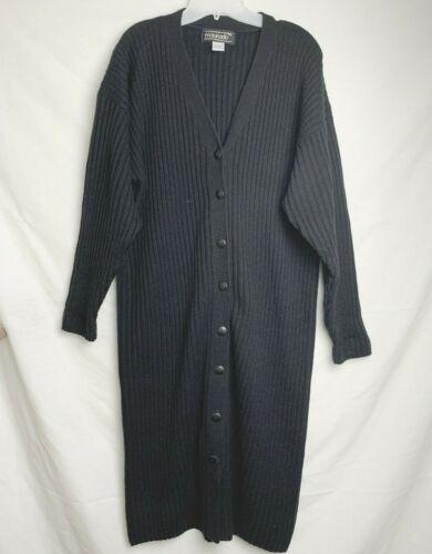 Maurada Vintage Sz Large Long Knit Cardigan Acrylic Buttons