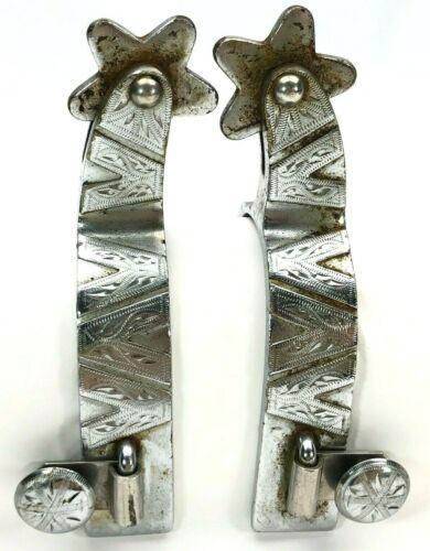 Crockett Renalde Boot Spurs Western Single Mount V Vintage 6042-LTO