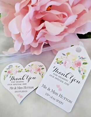 Personalised Wedding Favour Tag Thank You for Sharing our Special Day - OF01](Thank You For Sharing Our Special Day)