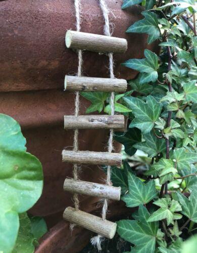 Miniature Dollhouse FAIRY GARDEN Accessories ~ Mini Rope & Twig Ladder ~ NEW