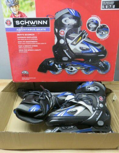 Schwinn Scorch Boys Adjustable In-Line Skates Youth 5-8 Blue Yellow SC-New