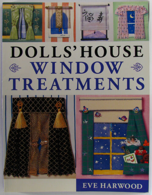#AC, Eve Harwood DOLLS' HOUSE WINDOW TREATMENTS S/cover Postage Fast & FREE A...