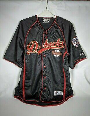 Arizona Diamondbacks Men's Size L True Fan Black Red Baseball Jersey MLB EUC!