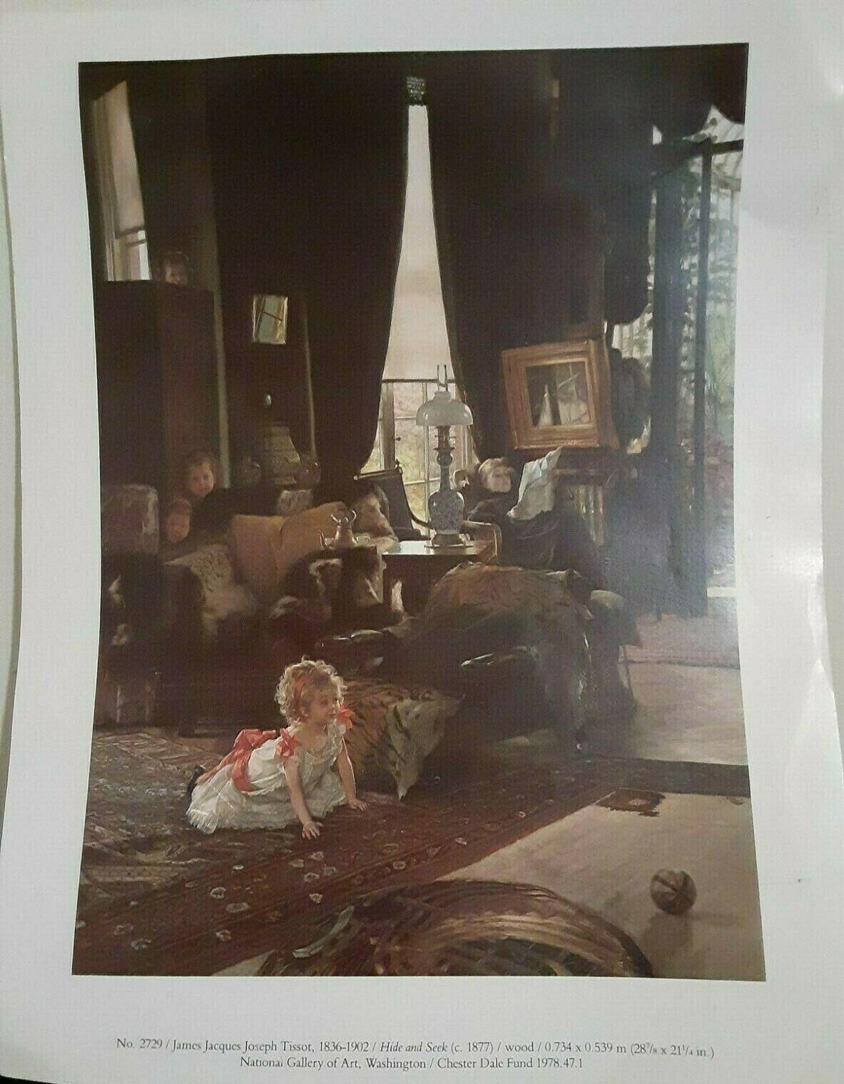 James Jacques Joseph Tissot Hide And Seek Print 11 x14 Art 2729 - $9.90