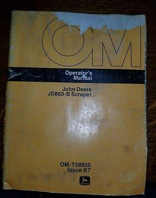 John Deere 860b 860 B Scraper Jd860b Owner Operator Maintenance Manual Omt58805
