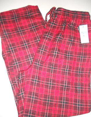 NWT NAUTICA M Premium Soft FLANNEL Lounge Sleepwear Red Plaid Pajamas Pants