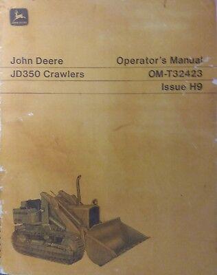 Jd350 John Deere Crawler Loader Operator Manual 350 Tractor Dozer 84pg Om-t32423