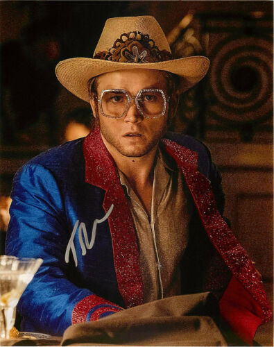 Taron Egerton Signed ROCKETMAN 8x10 Photo A EXACT Proof COA Kingsmen Elton John