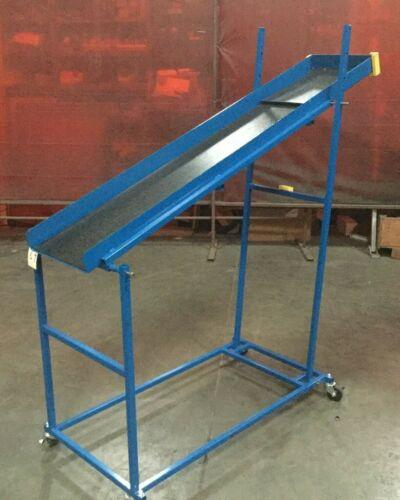 "Chute Conveyor adjustible incline  / 14""W x 72""L"