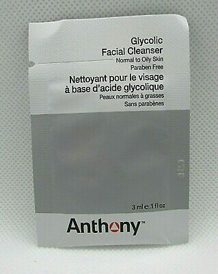 2 X Anthony Glycolic Facial Cleanser 3 ml/0.1 oz Each SAMPLE Packets Lot of (Anthony Glycolic Facial Cleanser)