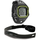 New Garmin Forerunner 15 GPS Fitness Sport Watch w/ HRM - Small Black/Green