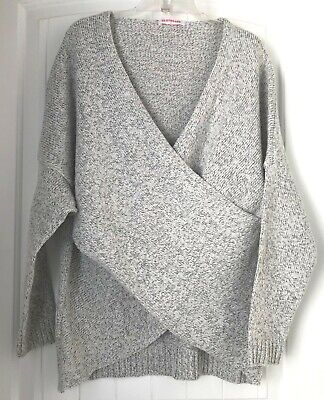 Cela - Pullover Wrap Sweater by Clothcake - Womens XL cotton, -