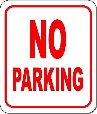 No Parking Metal Outdoor Sign Long-lasting