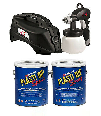 Plasti Dip 2 Gallon Kit Of Matte Black Dyc Dipsprayer System Gun Bundle