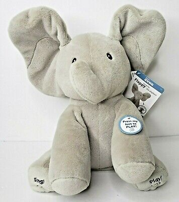 "Baby Gund Flappy The Elephant Animated Plush 11"" Singing Talking NWT SEE VIDEO"