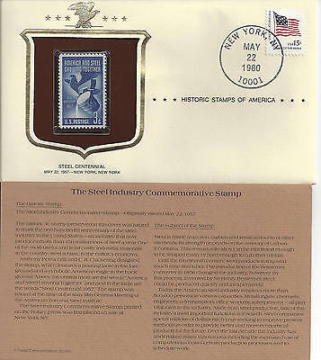 Historic Stamps of America STEEL INDUSTRY CENTENNIAL Commemorative Stamp