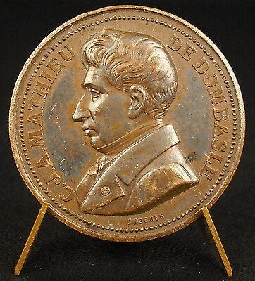 Medaglia Mathieu Della Dombasle Agronomo Chalon su Saône Strumento comprar usado  Enviando para Brazil