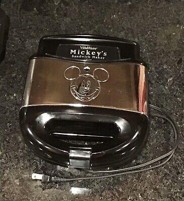 VillaWare Mickey's Sandwich Maker Disney Food Kitchen Small Appliance Mouse Face