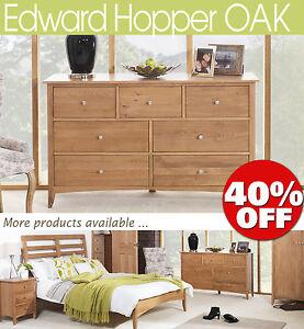 EDWARD-HOPPER-Oak-Furniture-bedside-table-chest-of-drawers-wardrobe-ASSEMBLED