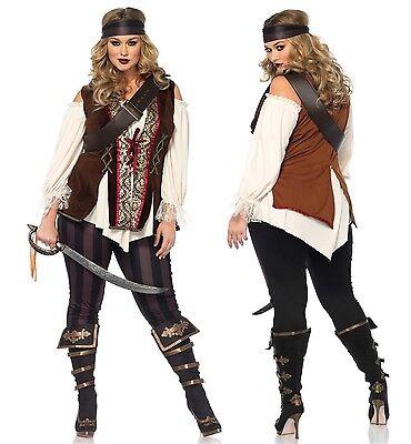 Plus Size Pirate Kostüm (Plus Size Pirate Fantasy Fest Buccaneer Swashbuckler Privateer Caribbean Ren)