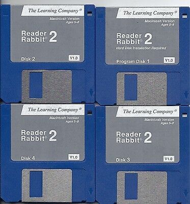 Vintage 1.44MB Floppy Disc Reader Rabbit 2 collector Item Children Kids Read  - $2.49