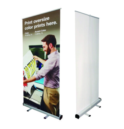 35x78 Retractable Banner Stand Trade Show Roll Up Custom Display Free Printing