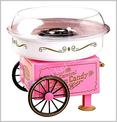 Commercial Cotton Candy Maker Machine Party Vintage Collection Hard Sugar - Pink