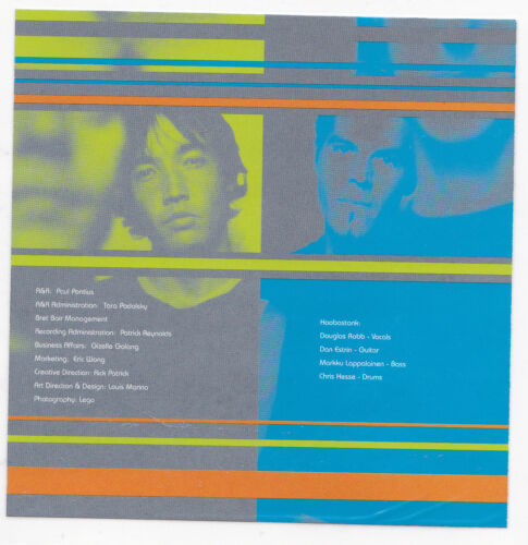 HOOBASTANK Band STICKER Album Cover Art Heavy Metal Music DECAL 2001 Blue Green