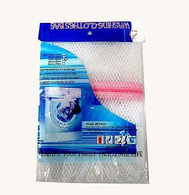 Laundry Saver Clothe Wash Bag Mesh Zipper Net Lingerie Saver Underwear Bra White