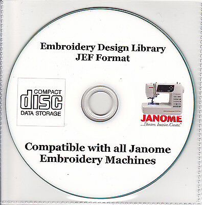 30,000 JEF Janome Machine Embroidery Designs and Alphabet Font Sets