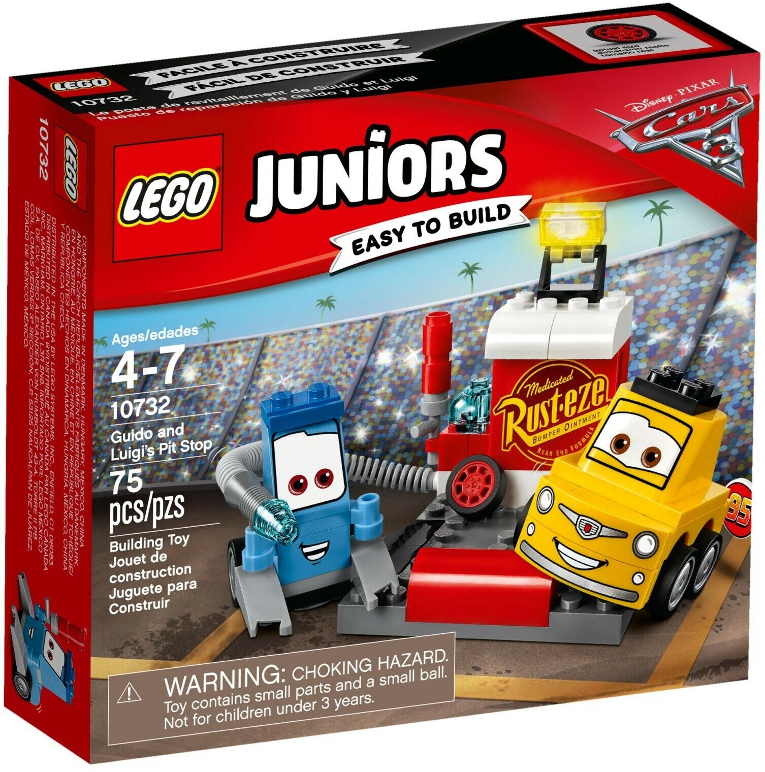LEGO Juniors - Guido and Luigi's Pit Stop Building Play Set