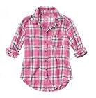 Hollister Juniors Plaid Button Down Shirts for Women