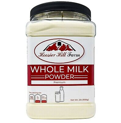 Hoosier Hill All American Whole Milk Powder 2 LBS, rBST Free, Made in USA, Ba...
