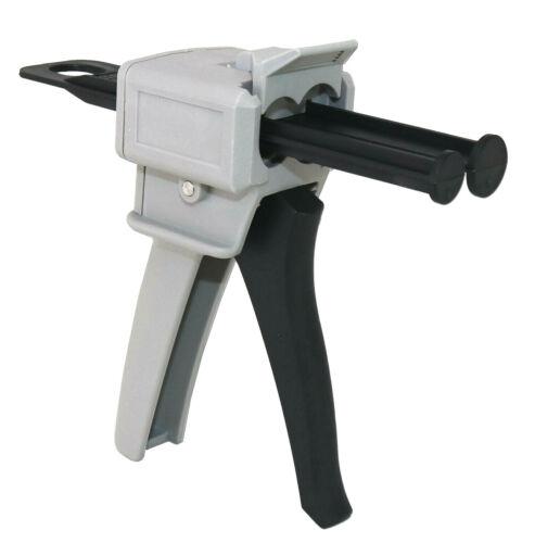 Dual Cartridge Caulk Gun Manual Plastic Applicator 50ml 1:1 and 1:2 Mix Ratio