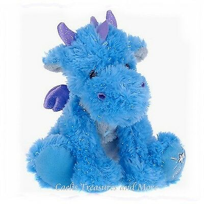 Russ Shining Stars Dragon Plush Fuzzy Soft & Sparkly With All Tags